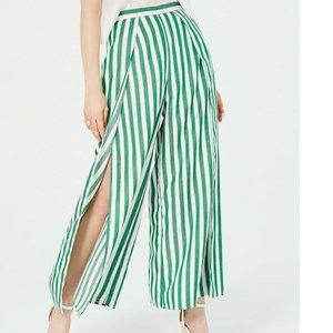 Lucy Paris XL White Green Striped Pants NWT AJ64